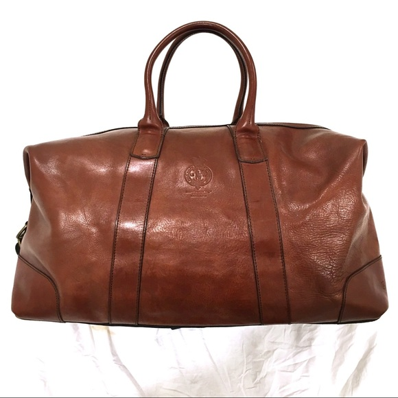 6baa80e2fea0 NWT Polo Ralph Lauren Leather Luggage Duffel Bag